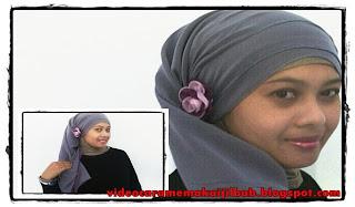 Cara Memakai Jilbab Segi Empat Modern
