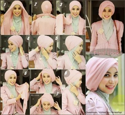 Hijab pesta simple pesta