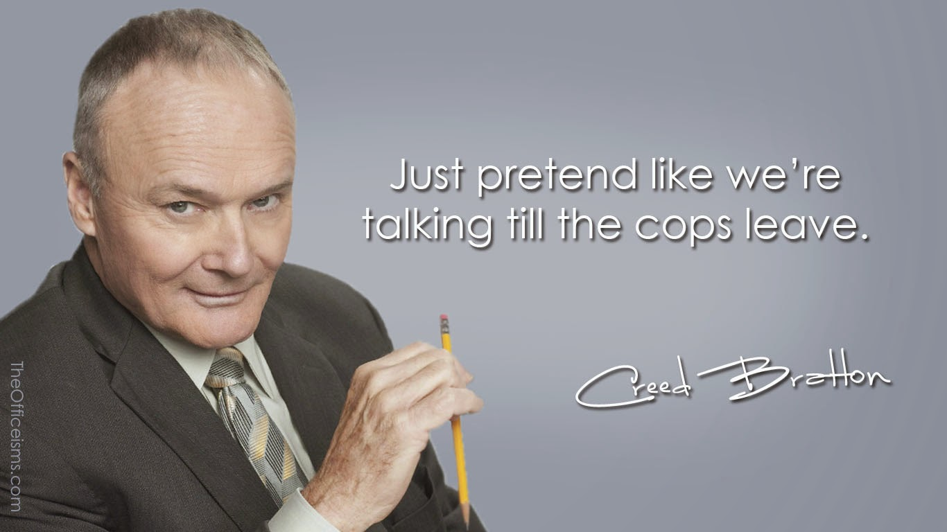 Cops Creed Bratton Wallpaper The Office