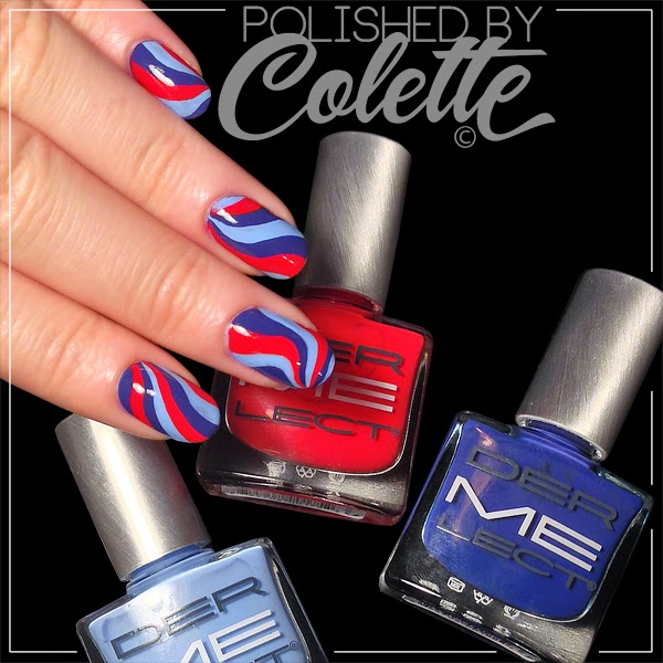 Dermelect Polish Review & Swirled Nail Art - Polished By Colette