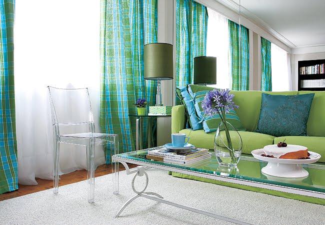 Sala De Estar Verde E Azul ~ também e então olhando para a minha sala e para essas decorações