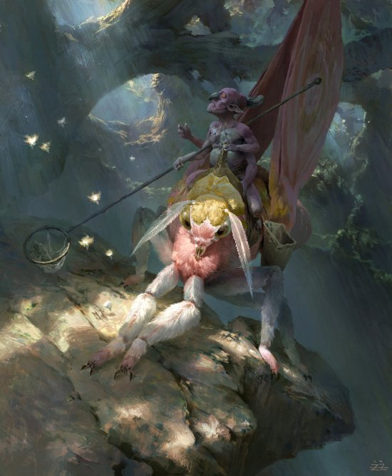 Tianhua Xu deviantart artstation ilustrações sombrias fantasia mitologias estilo chinês