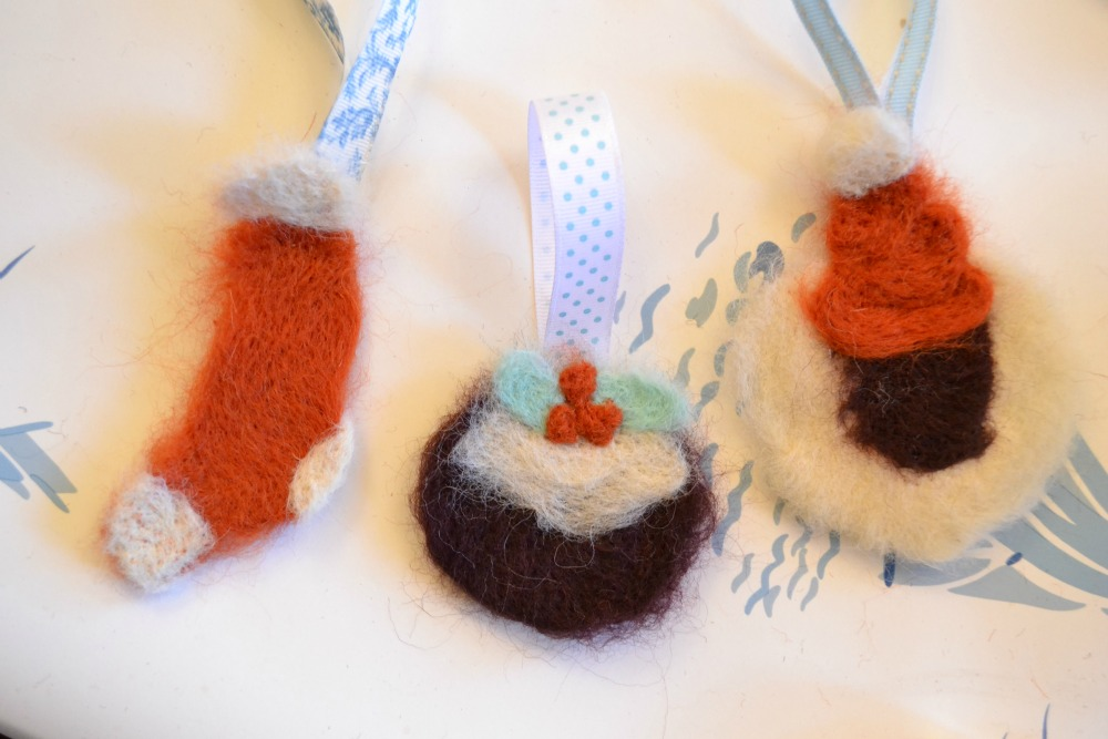 christmas needle felting kit laura ashley crafter gift decorations