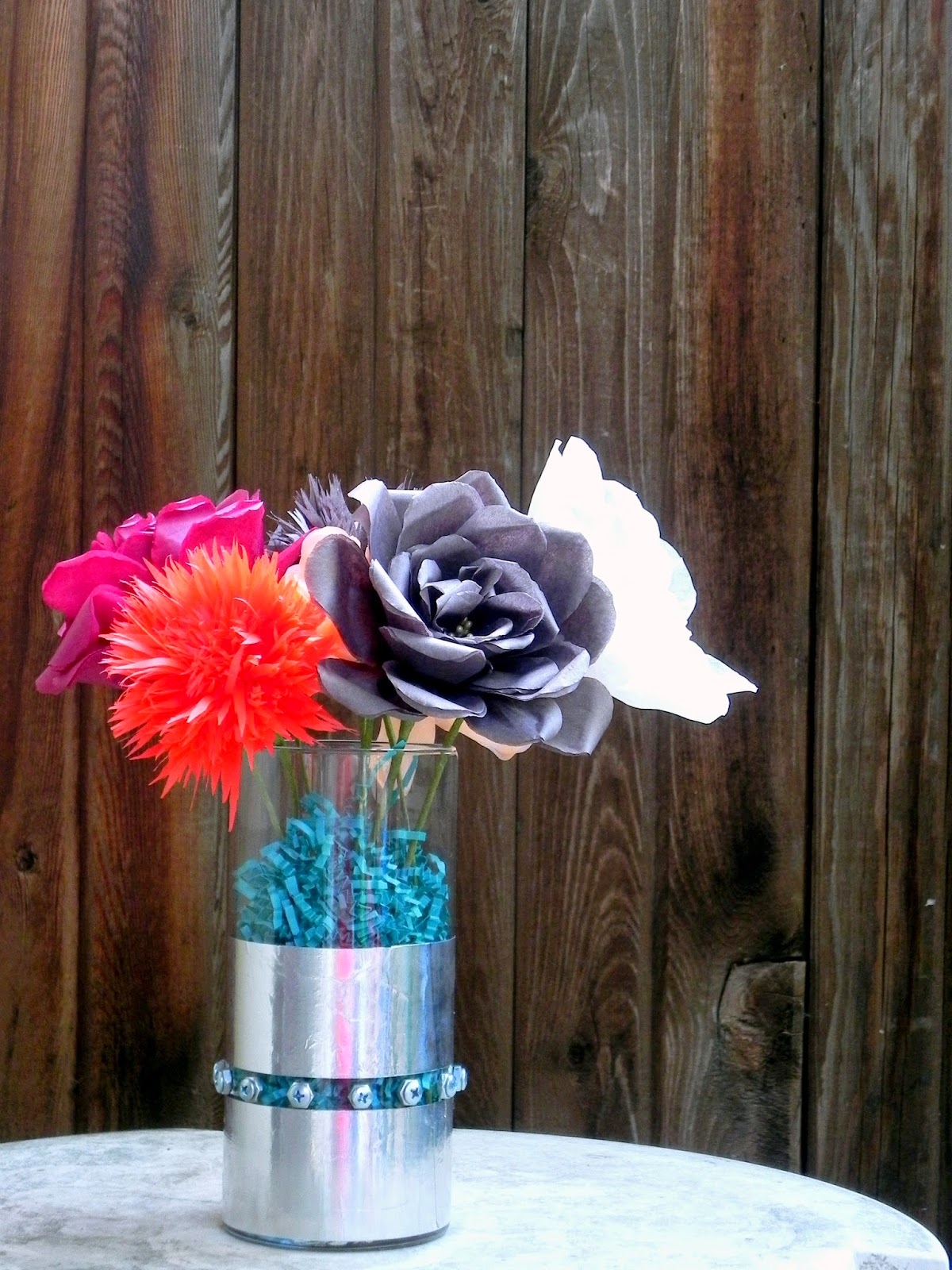 Riveted Vase DIY Paper Flowers