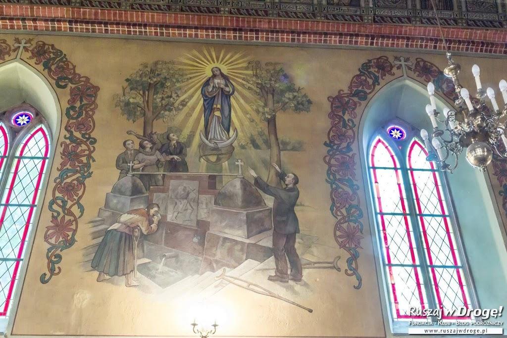 Malowidło z cudownym źródłem w Gietrzwałdzie