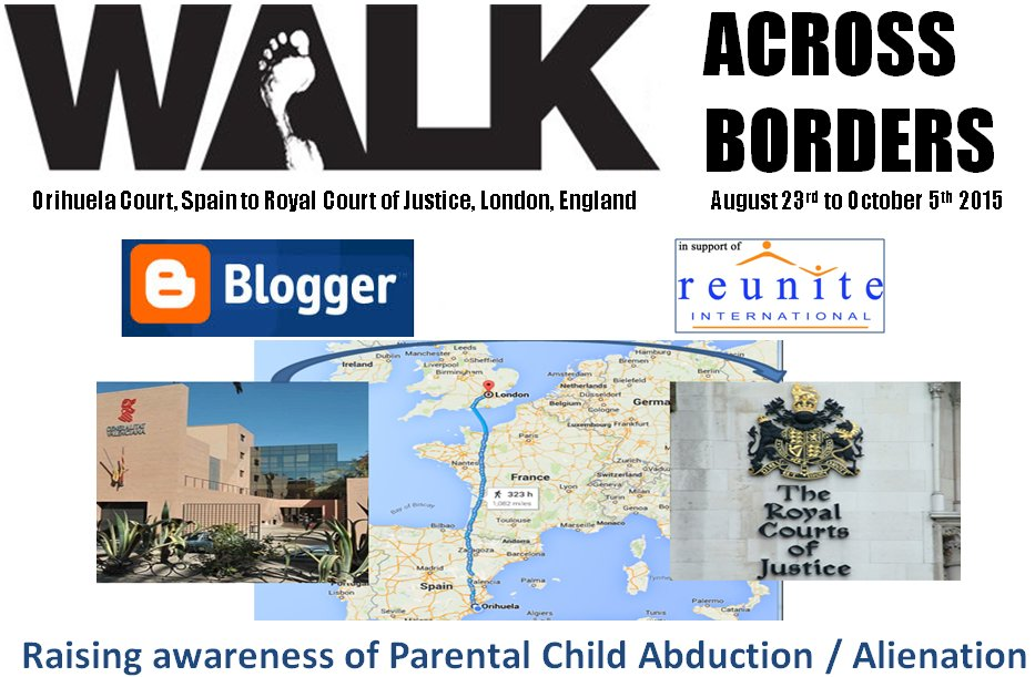 Walk Across Borders - Supporting Reunite International Child Abduction Centre
