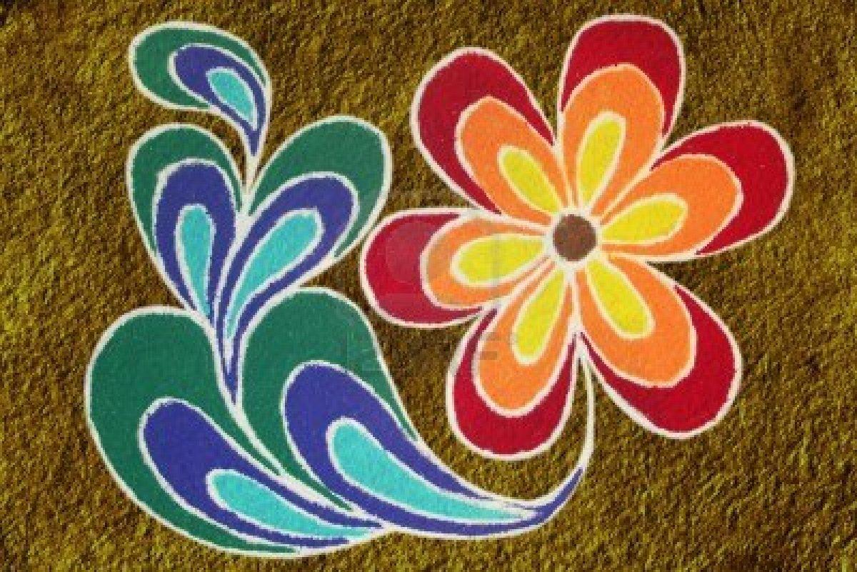 Rangoli Photos Flower Rangoli