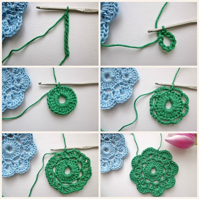 How To Make Crochet Bags Step By Step : My Rose Valley: The Maybelle Crochet Flower