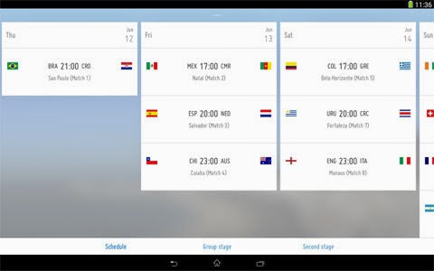 Fifa World Cup 2014 App time to update