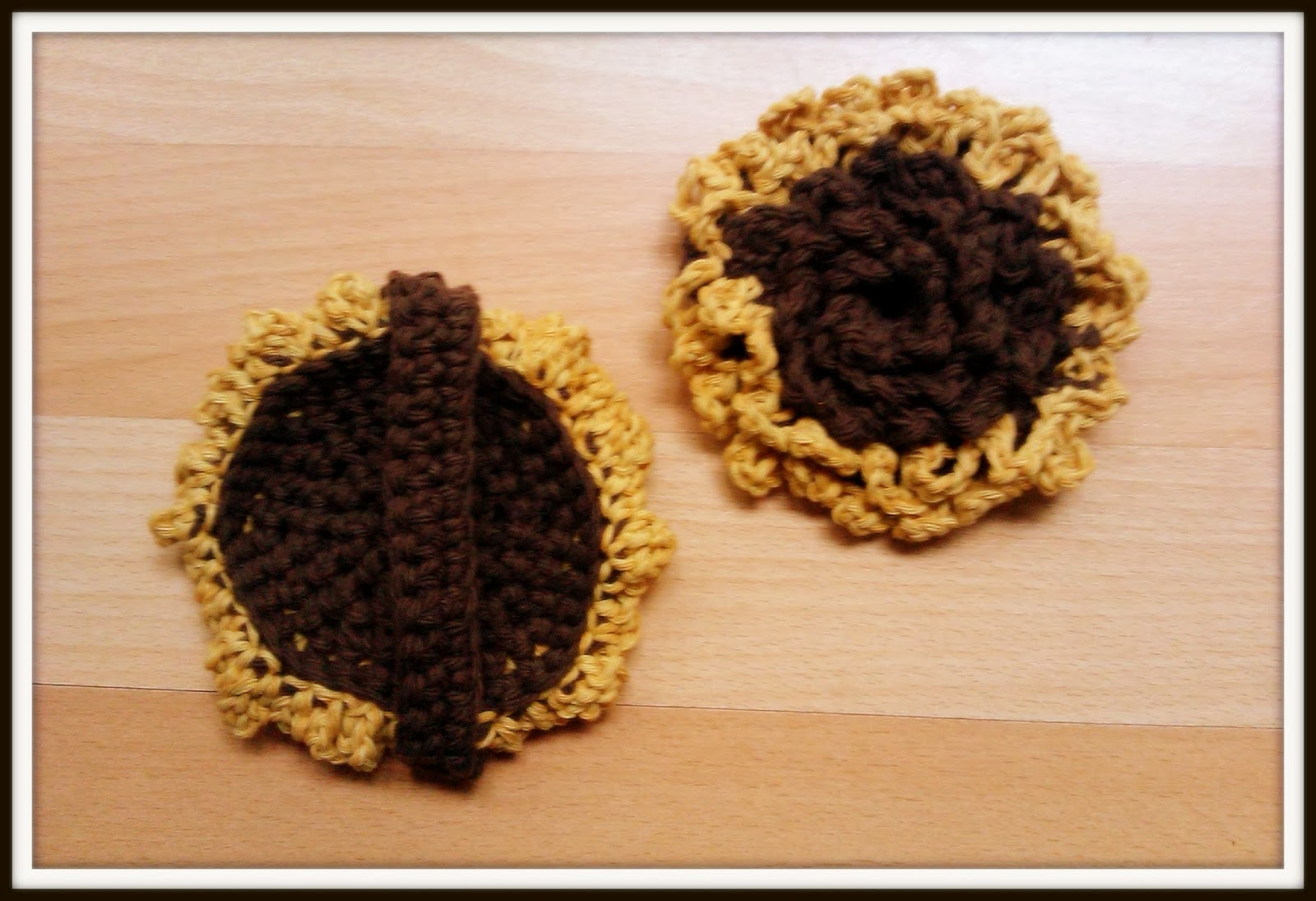Double Treble Craft Adventures: Crochet Tawashi Scrub Sunflower ...