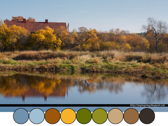 Colour palette autumn