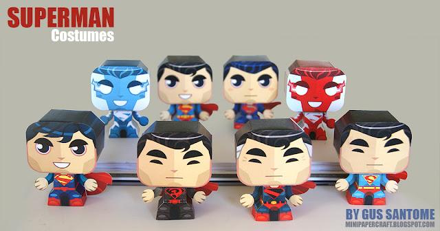 Mini Superman Paper Toys