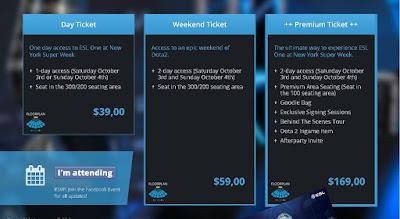 tiket info ESL dota 2 oktober 2015
