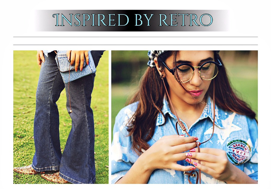 denim on denim retro look