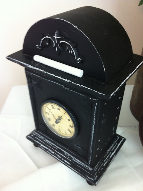 chalkboard paint clock