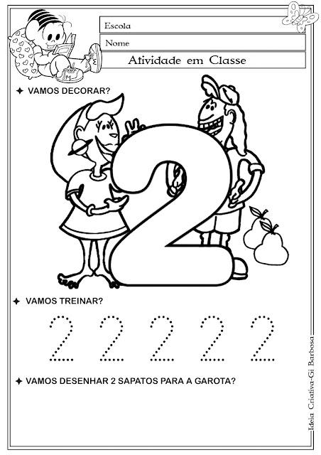 Atividade Numeral 2 com Pontilhado