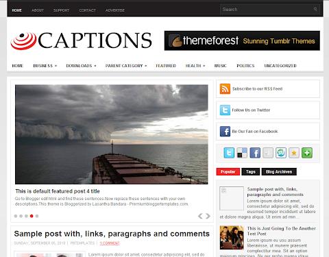 Captions Blogger Theme