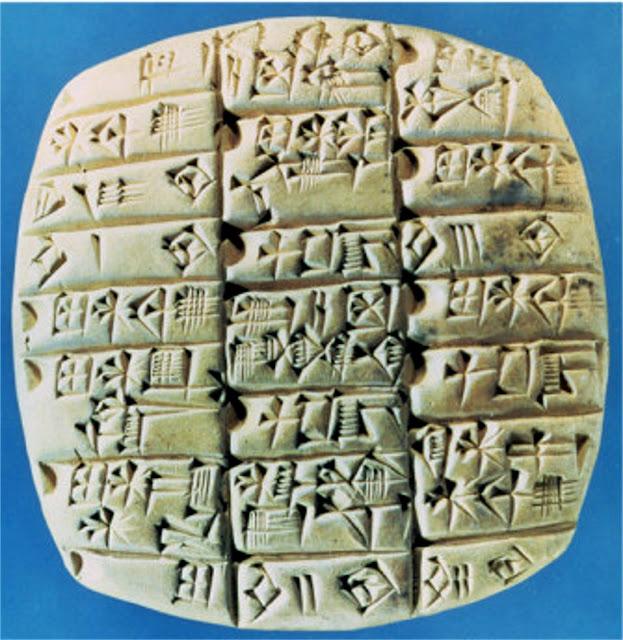 sumerians writing