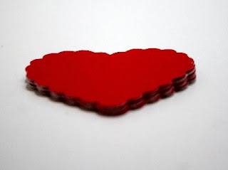 Scalloped Heart Scrapbook Diecuts  by MyGrandpasPen
