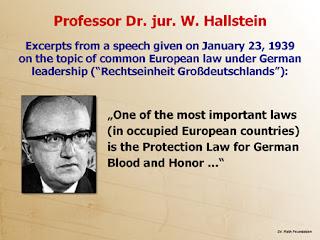 Alemanha; Advogado; NAZI; Walter Hallstein; Autor; Discurso; Lei de Protecção do Sangue; Honra; Alemã, Países Ocupados