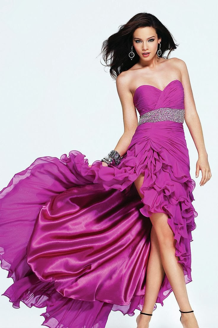 Miedoso Vestido De Fiesta Amor Púrpura Ideas Ornamento Elaboración ...