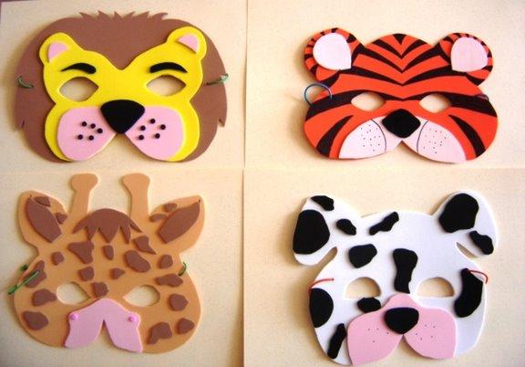 Qué hacer con nenes: MASCARAS DE ANIMALES CON FOAMI