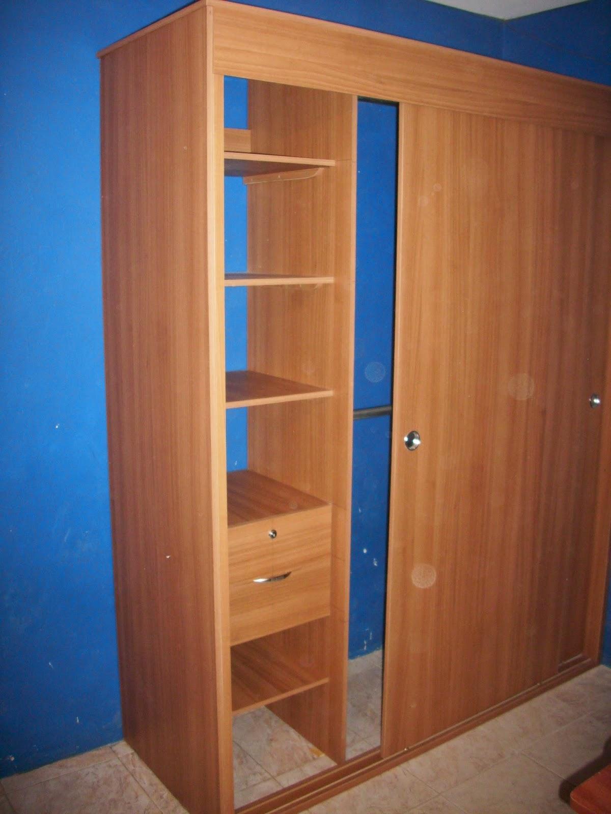 Mis trabajos en madera nuevo closet en melamina for Closet melamina