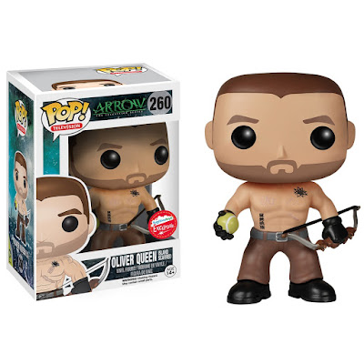 "Fugitive Toys Exclusive Arrow ""Island Scarred"" Oliver Queen Pop! Television Vinyl Figure by Funko"
