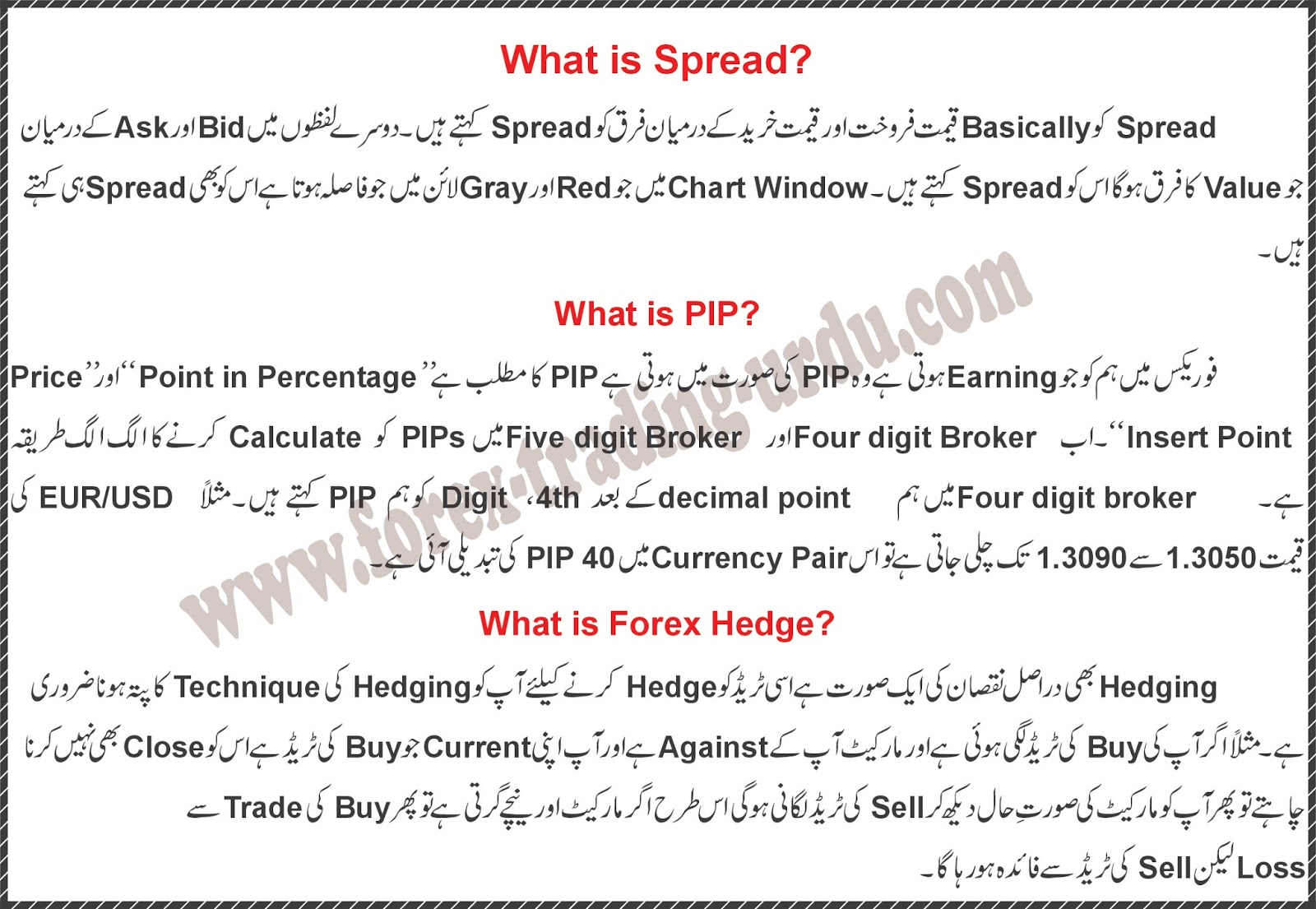 Forex trader meaning in urdu