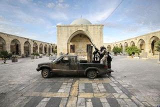 Syria: Al Qaeda FSA Terrorists Destroy Ancient Statues in a Museum in Syria fsa+museum