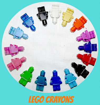 Lego Crayons, Lego Mold crafts, number 2 on list of christmas gifts under $5