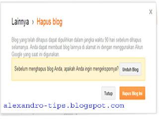 cara lengkap menghapus blog
