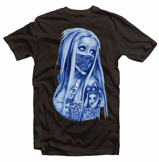 girl mask tshirt design