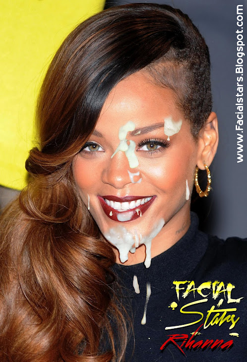 Rihanna's happy messy Facial
