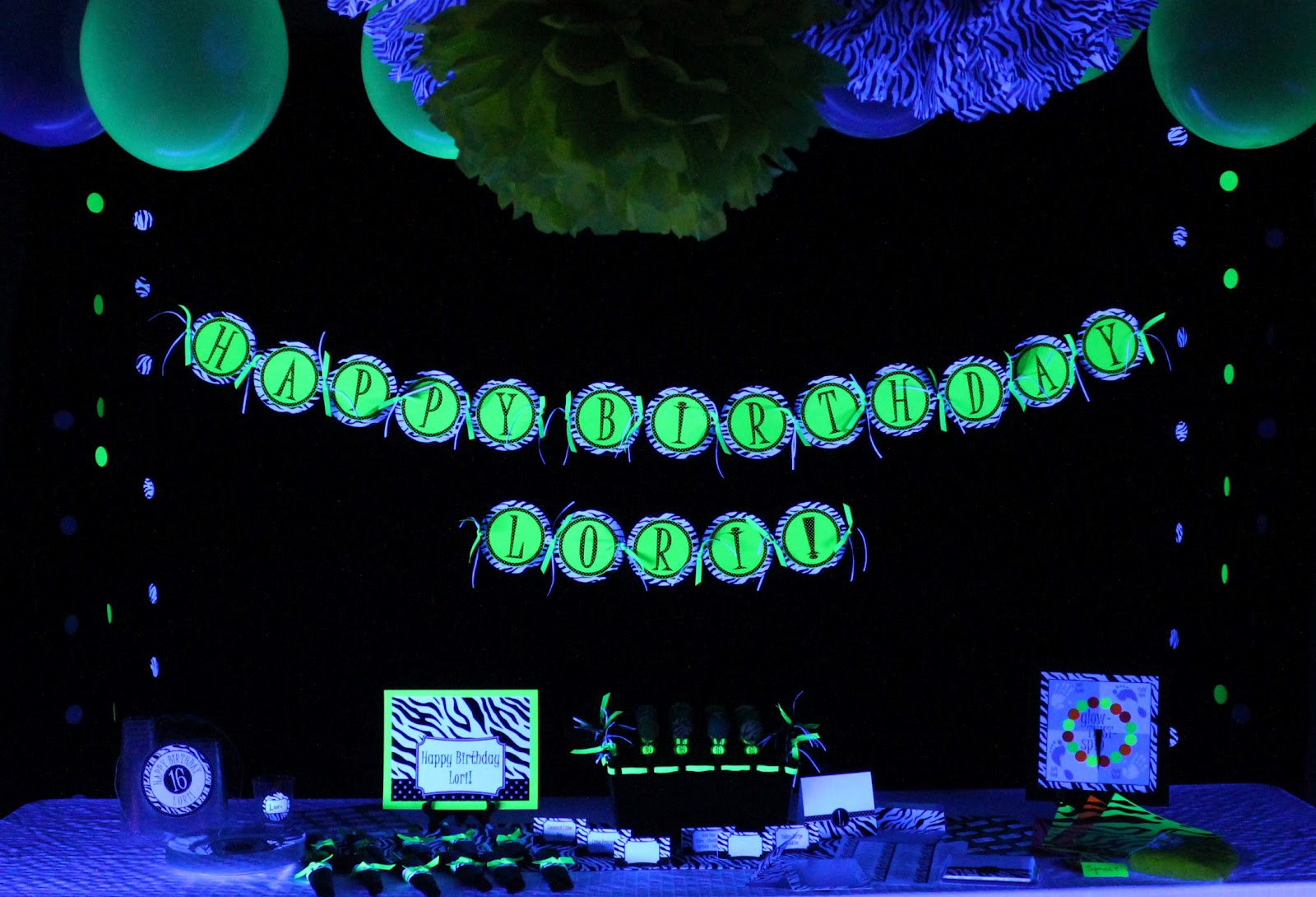 Whirligigs Party Co: Glow In The Dark / Blacklight Party