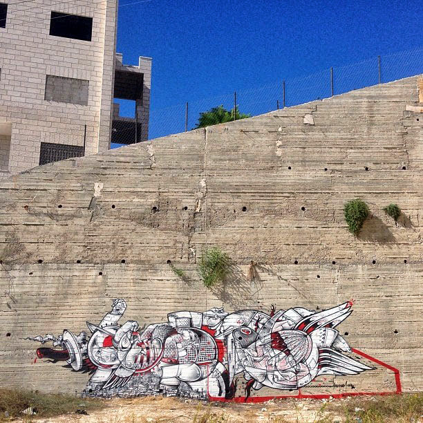 Street Art Duo How Nosm In Palestine Where They Painted Several New Pieces. 2