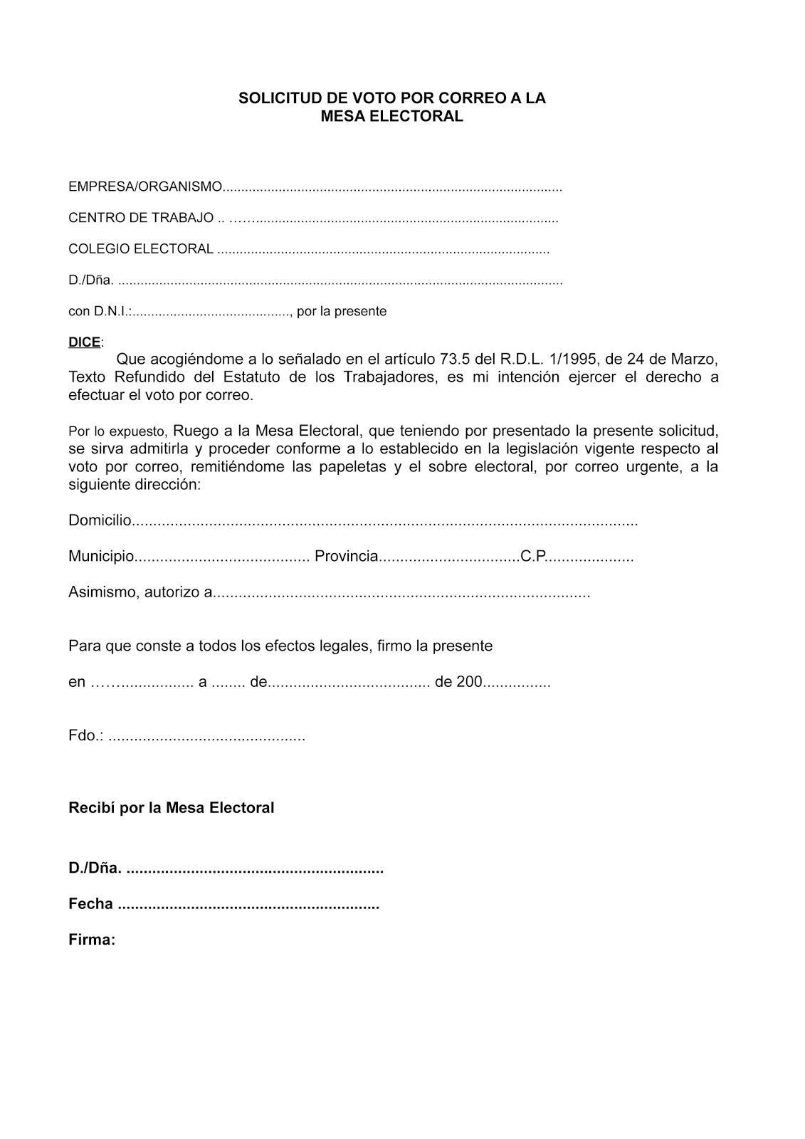 Uso plataforma meco voto por correo for Presidente mesa electoral