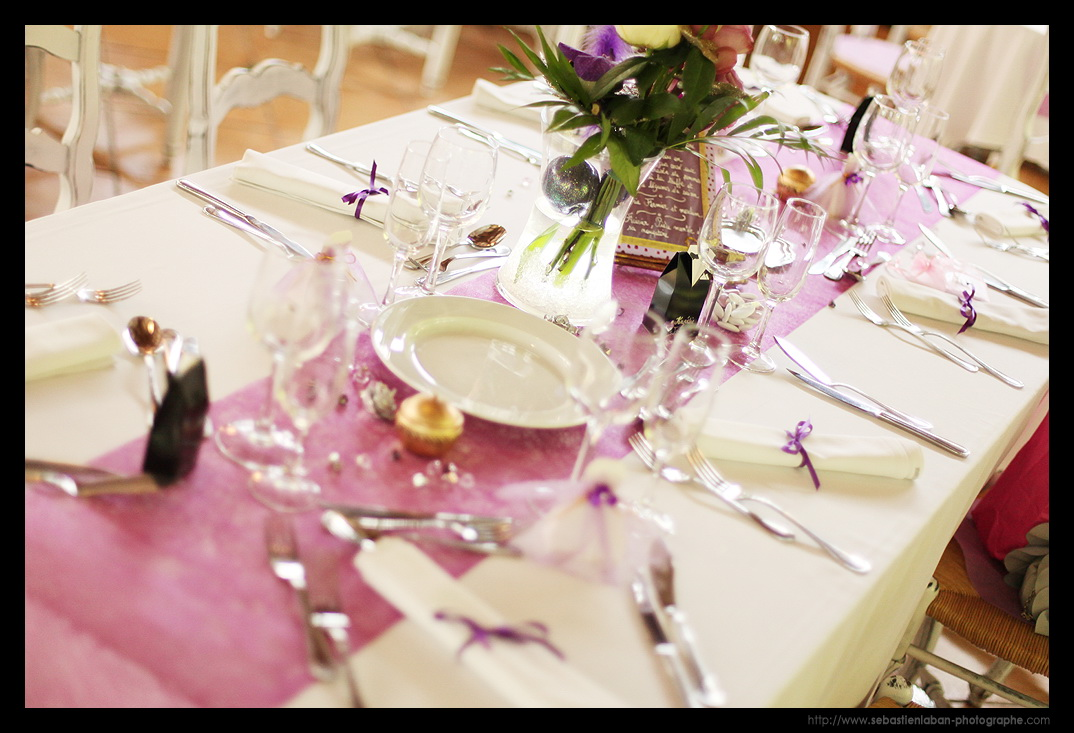Id et photo d coration mariage d coration de table for Decoration mariage table