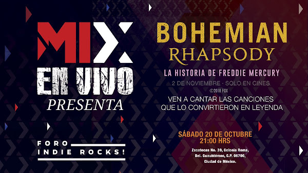 "Mix en Vivo ""Bohemian Rhapsody"" en Mix FM 106.5 Escuchen la estación para ganar, ¡ULTIMOS BOLETOS!"