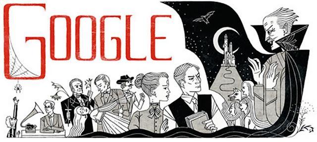 Bram Stoker Google Doodle 165 Anos de Nascimento