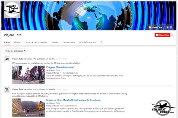 ViajeroTotal en Youtube