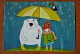коллекция открыток с зонтиками