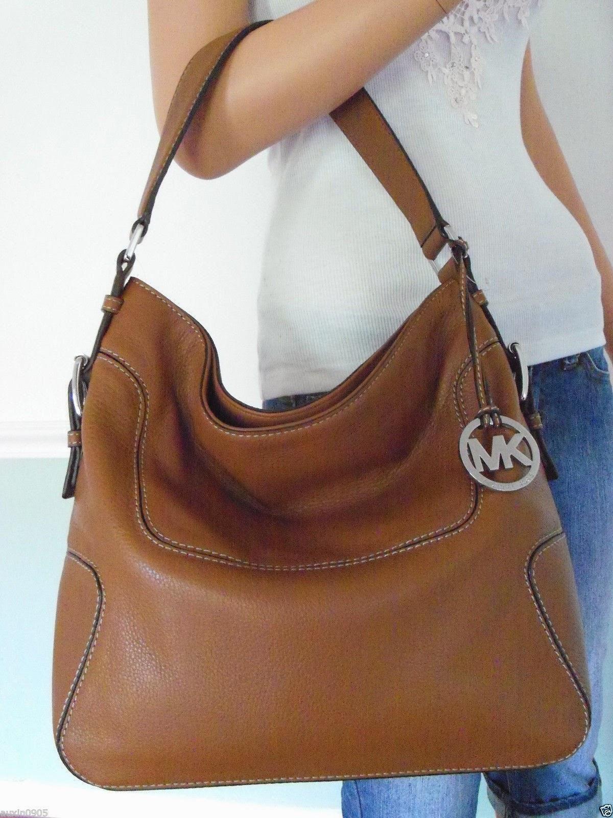 1236fd21ac9636 Michael Kors Brookville Leather Shoulder Bag ...