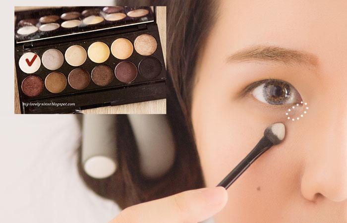 Agar mata terlihat fresh dan cerah gunakan lagi warna Nougat di ujung ...
