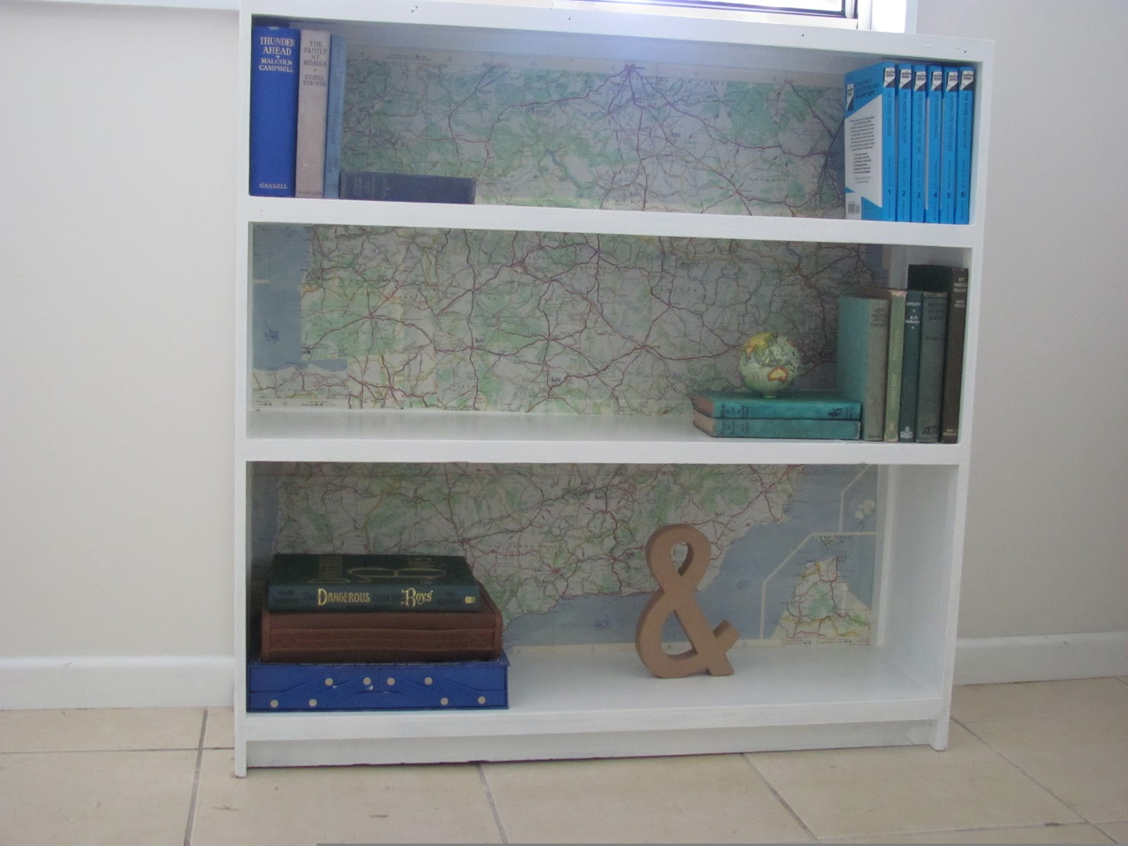 Five Brothers One Sister Map Shelf
