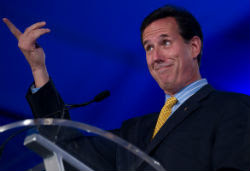 Rick Santorum looks goofy