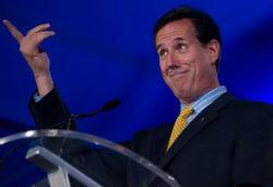 Rick Santorum looks goofy