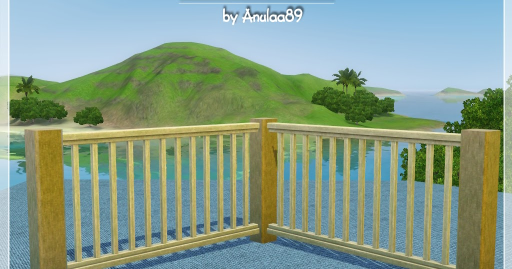 Balcony railing anulaa89 creations stuff for the sims for Sims 4 balcony