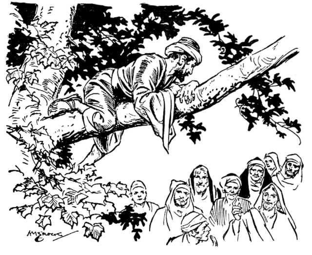 Zacchaeus The Tax Collector Scripture Reference For Coloring Page