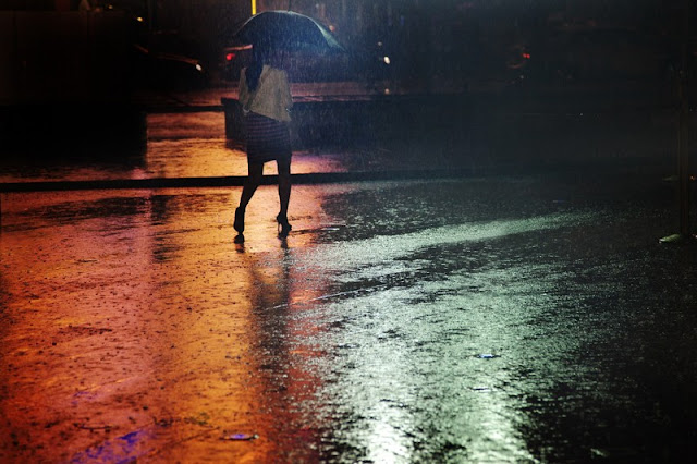 El ruido de la lluvia.